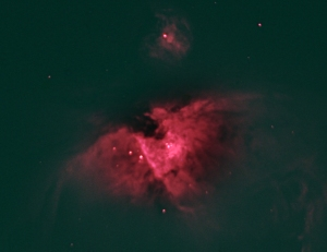 Orion nebula in H-alpha (Hα) Yes I have to retouch this up and smooth the blending. it's delicate.