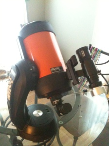 My Celestron 6se with Orion 50 MM guide scope