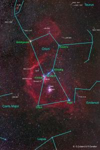 Incase you didn't know where things where located in Orion. . . . Image Credit Stéphane Guisard Los Cielos de Chile and Robert Gendler