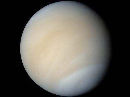 Venus captured by Mariner. -Image credit NASA